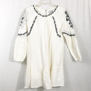 HAYDEN LA Boho Embroidered Puff Sleeve Babydoll M